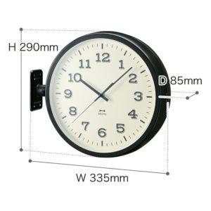 ブルーノ両面時計