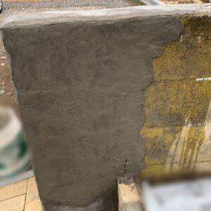 ブロック塀モルタル施行